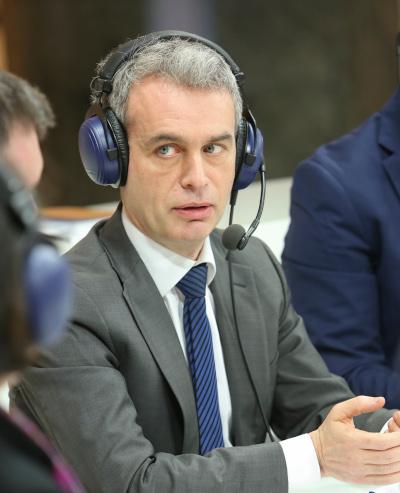 Joe McNamee 2015. aastal Euroopa Parlamendis